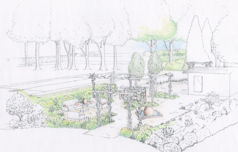 SH Garden perspective Scene 4 colour rendered colour rendered detail1