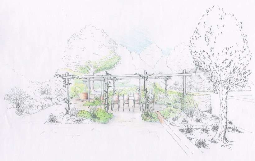 SH Garden perspective Scene 5 colour rendered colour rendered detail 1